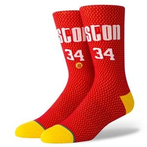 Stance NBA Houston Rockets Olajuwon Jersey Socks
